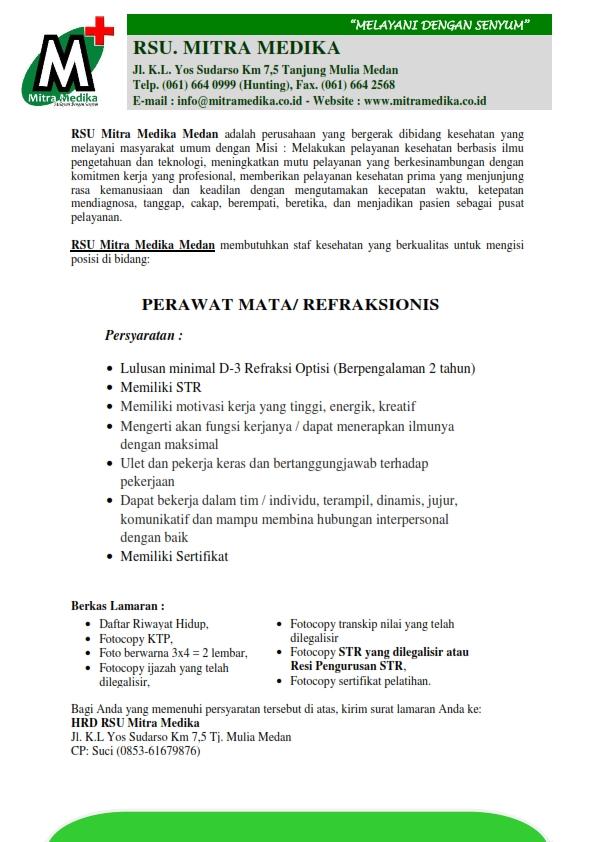 Loker Rs Mitra Medika Medan Karir Rsu Mitra Medika Medan