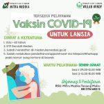 Kami Melayani Vaksin COVID-19 untuk Lansia (60 Tahun ke atas)